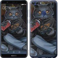 "Чехол на Huawei P Smart gamer cat ""4140c-1346-15886"""