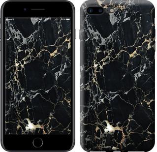 "Чехол на iPhone 7 Plus Черный мрамор ""3846c-337-15886"""