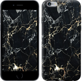 "Чехол на iPhone 6 Plus Черный мрамор ""3846c-48-15886"""
