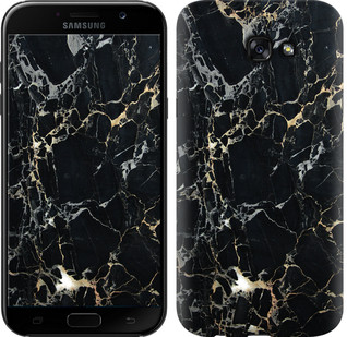 "Чехол на Samsung Galaxy A7 (2017) Черный мрамор ""3846c-445-15886"""