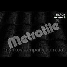 Композитная чёрная черепица Metrotile Roman (роман) Black