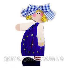 Часы настенные Девочка с бантом Часы для детской комнаты Ручная работа