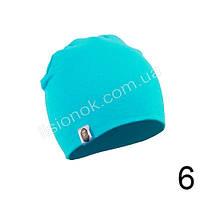 Бирюзовая трикотажная однотонная шапка Bape для подростков и взрослых 54-62см