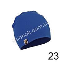Синяя трикотажная однотонная шапка Bape для подростков и взрослых 54-62см