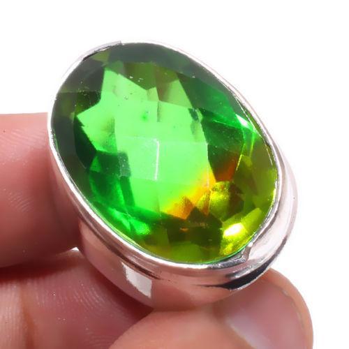 Перидот кольцо с перидотом в серебре 18.5 размер Индия