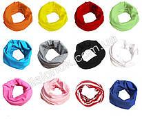 Трикотажный шарф хомут