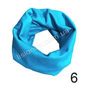 Трикотажный шарф хомут Ярко-голубой