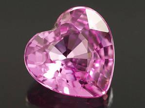 Натуральный  сапфир  сердце 0.70 CT  5.4 x 5.5 x 2.9mm