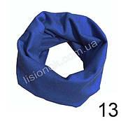 Трикотажний шарф хомут Синій