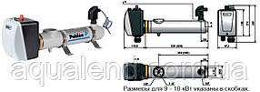 Электронагреватель компактный пластиковый Pahlen 6кВт с реле потока и термостатом 220В/380В, фото 2