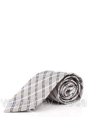 Галстук серый в серо-голубые геометрические фигуры