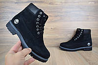 Женские Ботинки Timberland черные Топ Реплика, фото 1