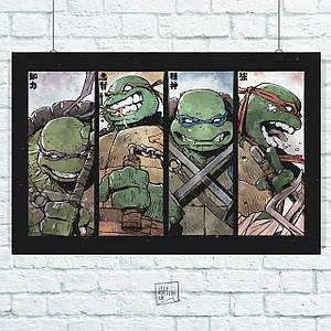 Постер Черепашки-ниндзя, TNMT. Размер 60x39см (A2). Глянцевая бумага