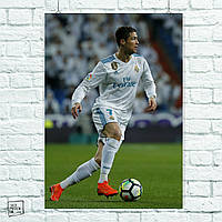 Постер Cristiano Ronaldo, Рональдо, футбол. Размер 60x42см (A2). Глянцевая бумага