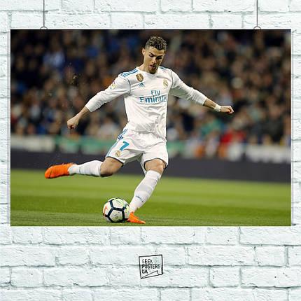 "Постер ""Cristiano Ronaldo, Рональдо"", футбол. Размер 60x42см (A2). Глянцевая бумага, фото 2"
