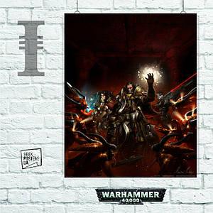 Постер W40K: Ordo Hereticus Inquisitors, Вархаммер. Размер 60x48см (A2). Глянцевая бумага