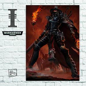 Постер W40K: Ordo Hereticus Inquisitor Adrastia, Вархаммер. Размер 60x46см (A2). Глянцевая бумага