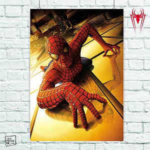Постер Spider-Man 1, Человек-паук, Спайдермен. Размер 60x42см (A2). Глянцевая бумага