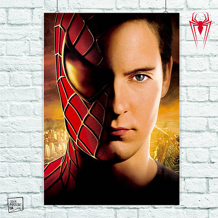 Постер Spider-Man 1, Человек-паук, Спайдермен. Размер 60x42см (A2). Глянцевая бумага, фото 2