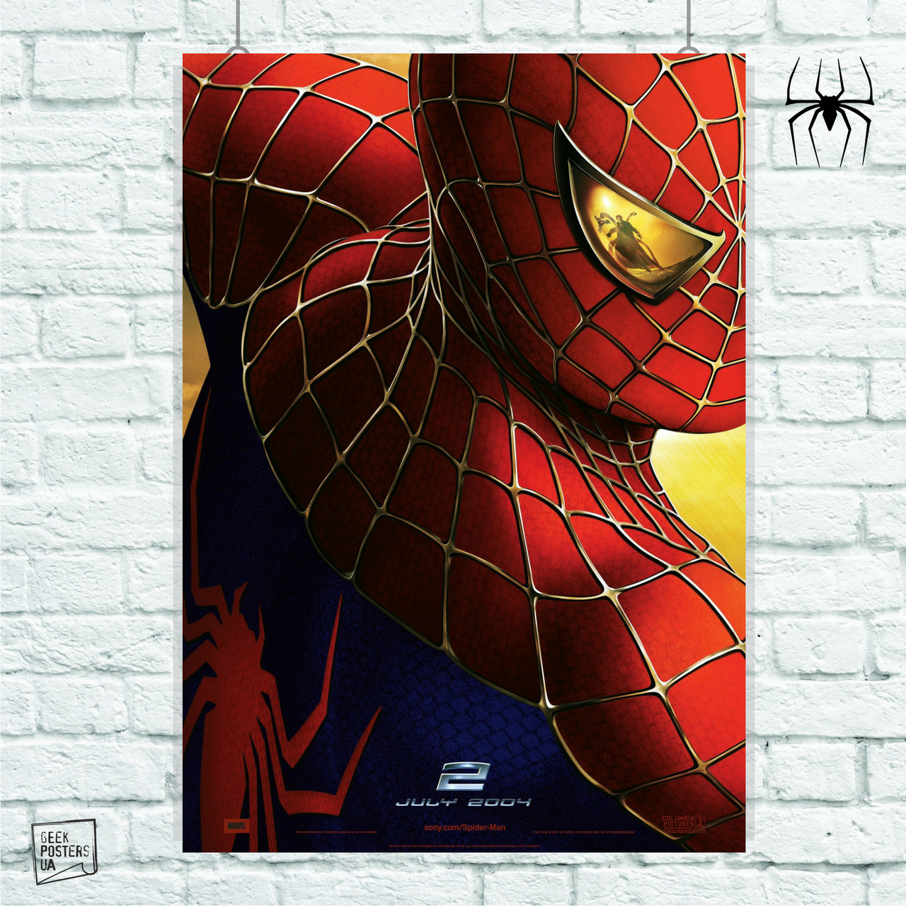 Постер Spider-Man 2, Человек-паук, Спайдермен. Размер 60x42см (A2). Глянцевая бумага