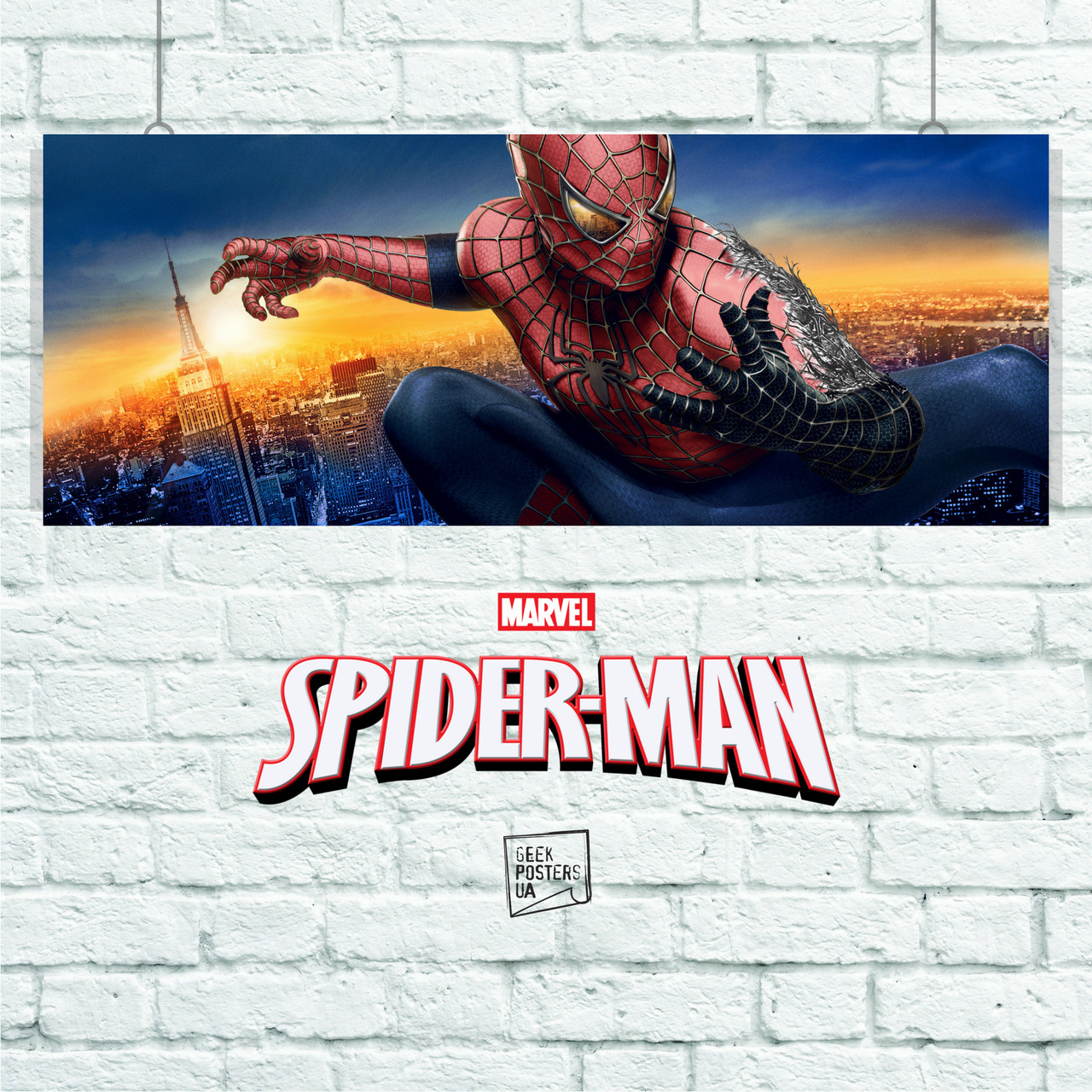 Постер Spider-Man 3, Человек-паук, Спайдермен. Размер 60x23см (A2). Глянцевая бумага