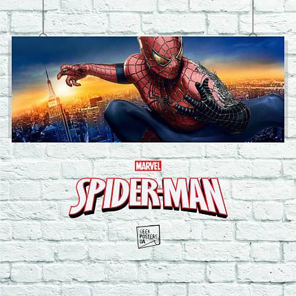 Постер Spider-Man 3, Человек-паук, Спайдермен. Размер 60x23см (A2). Глянцевая бумага, фото 2