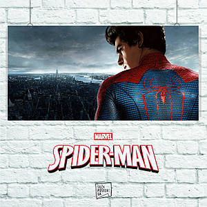 Постер The Amazing Spider-Man, Спайдермен. Размер 60x30см (A2). Глянцевая бумага