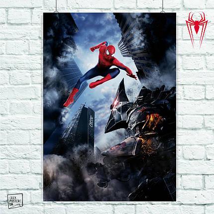 Постер The Amazing Spider-Man 2, Человек-паук, Спайдермен. Размер 60x42см (A2). Глянцевая бумага, фото 2