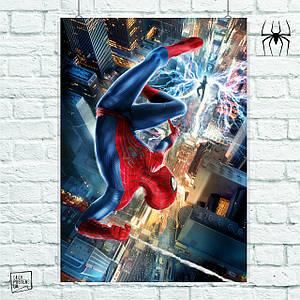 Постер The Amazing Spider-Man 2, Человек-паук, Спайдермен. Размер 60x42см (A2). Глянцевая бумага