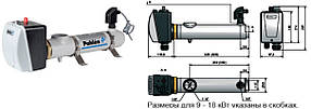 Електронагрівач компактний пластиковий Pahlen 12кВт з реле потоку і термостатом 380В, фото 2