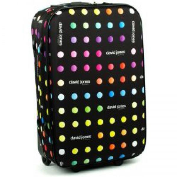 Средний чемодан David Jones 1008 горох - Интернет-магазин чемоданов и  дорожных сумок - ВАЛИЗА abd80f1b9db
