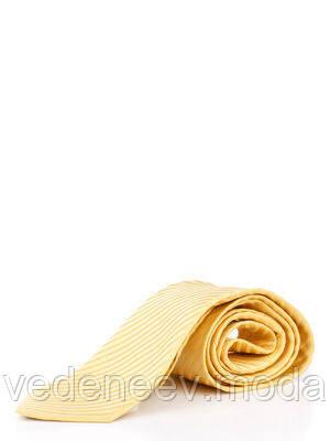 Галстук из микрофибры желтый в диагональ