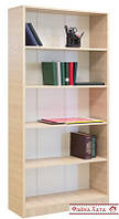 Шкаф для книг, этажерка деревянная 5 полок, дуб
