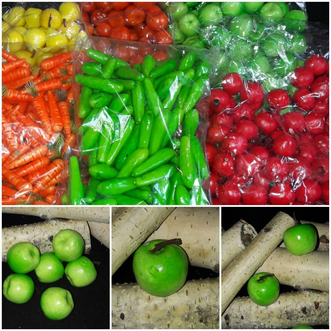 Яблочки искусственные - муляж из пенопласта h-4 см, 50 шт\уп., 125 грн