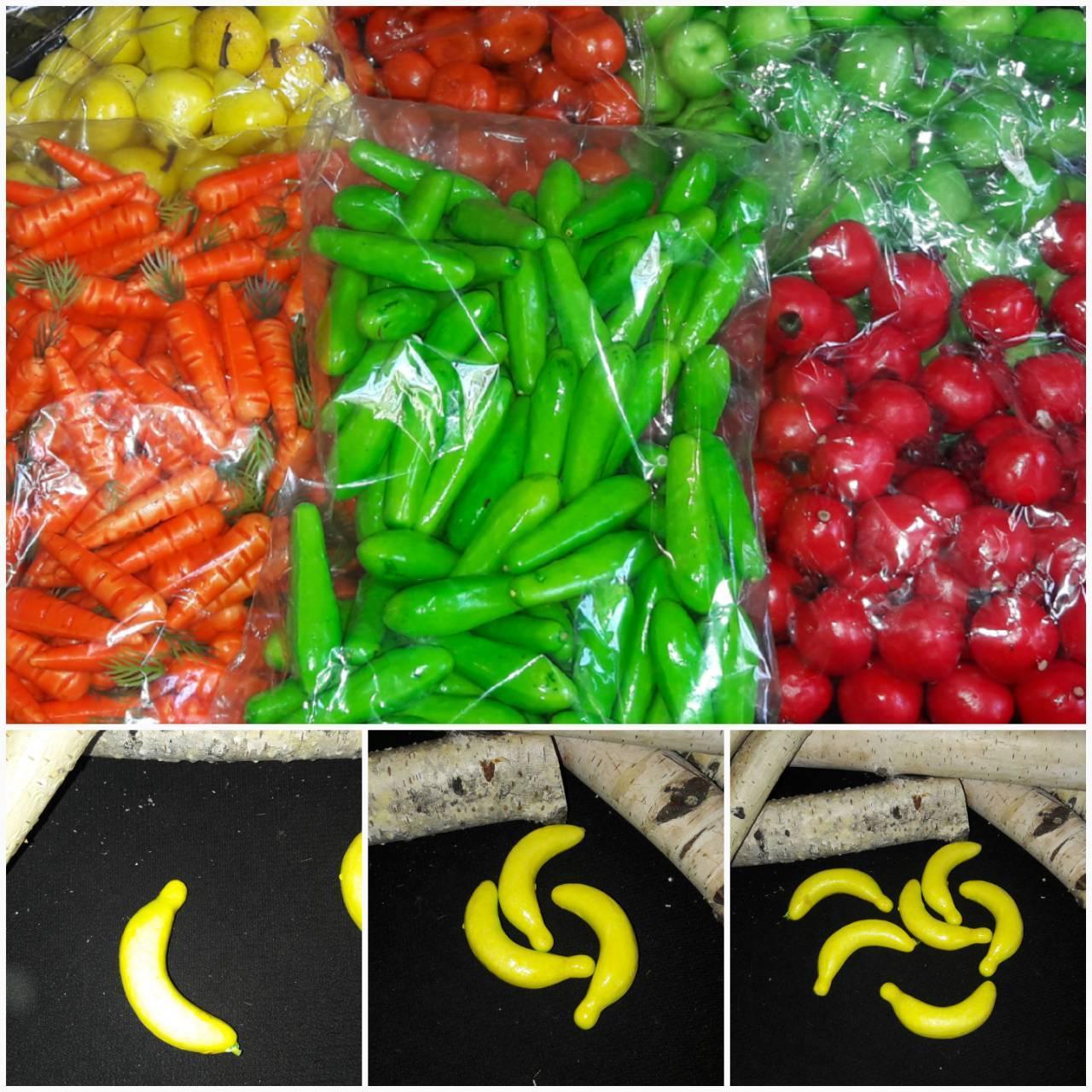 Искусственные бананы, пенопласт, 6.5 см., 50 шт., 125 грн.