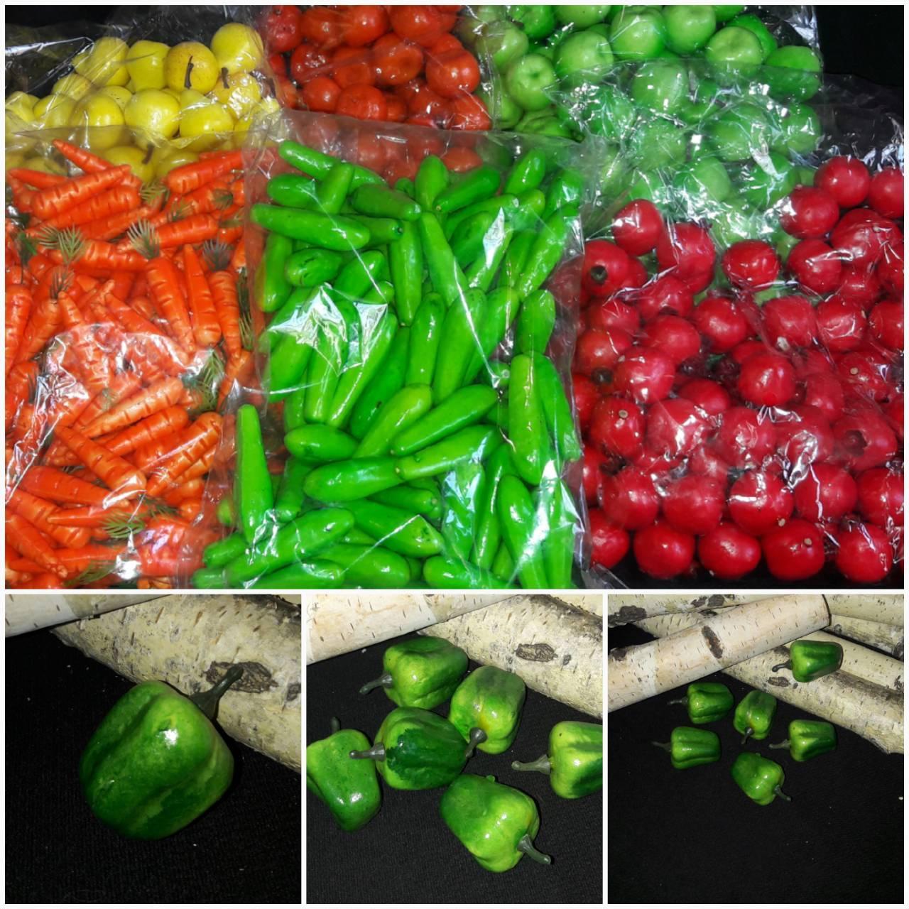 Болгарский перец зеленого цвета, пенопласт, выс. 3.5 см., 50 шт., 125 грн.