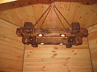 Светильник под старину на четыре лампы.