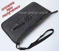 Чоловічий шкіряний гаманець портмоне клатч барсетка Wild Alligator Lacoste, фото 1