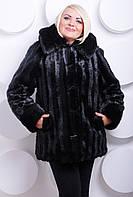 Черная норковая шуба из искусственного меха, норковая шуба черного цвета с капюшоном, шубы больших размеров