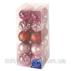 Елочные шарики 8 см 20 шт/кор (8537)