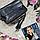 Жіноча чорна сумочка з натуральної шкіри, фото 3