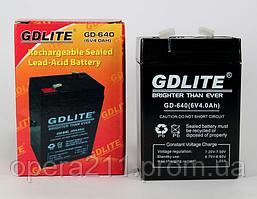 Аккумулятор BATTERY GD 640 6V 4A