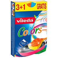 Губки кухонные для тефлона Vileda 3+1 шт