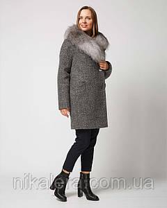 Зимнее  пальто с мехом рр 42-52