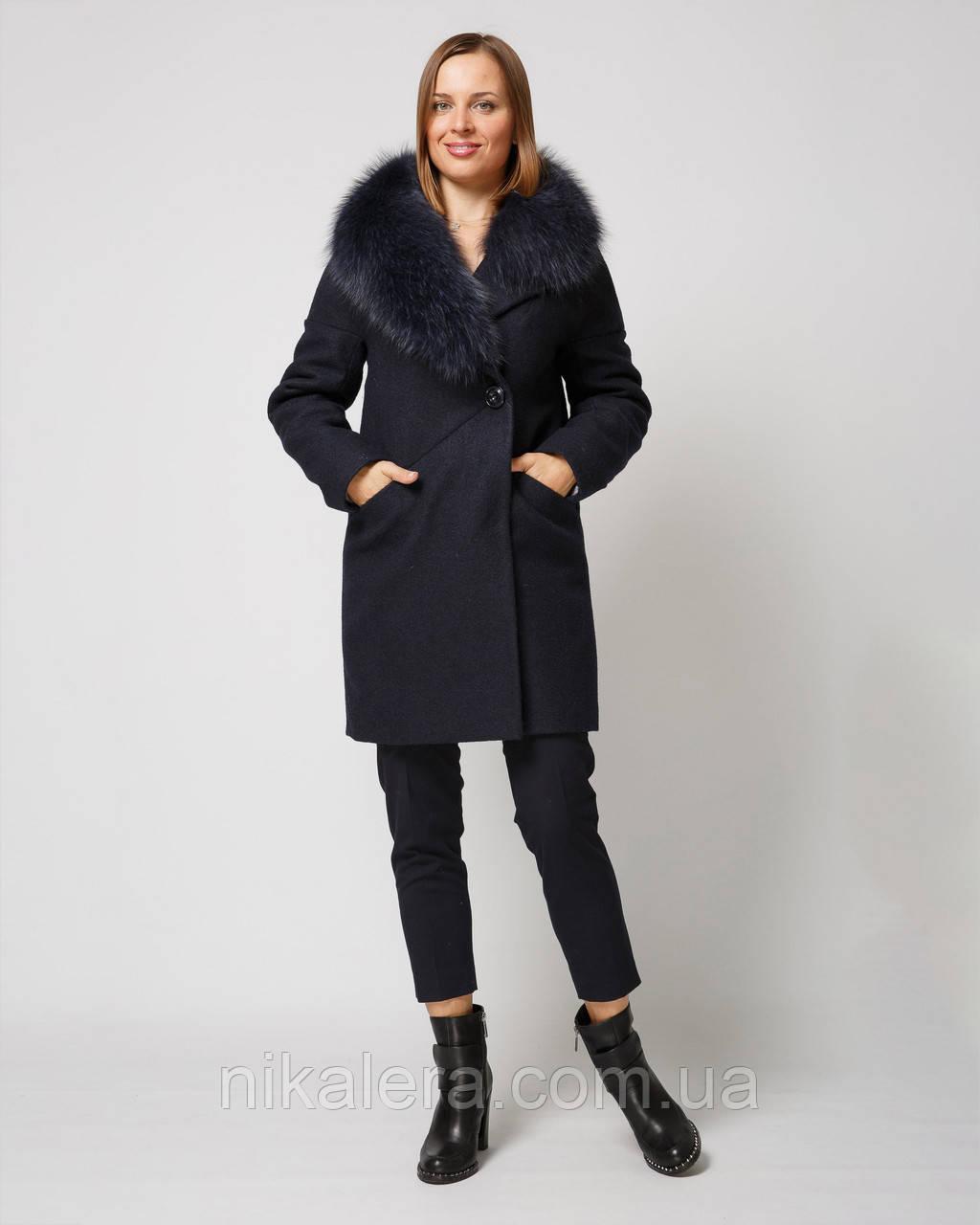 Шикарное зимнее  пальто с мехом рр 42-52