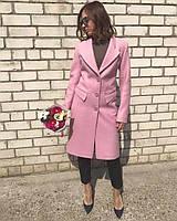 Пальто приталенное классика 42-48рр розовое, фото 1