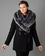 Женское полупальто с двойной опушкой - зима , фото 1