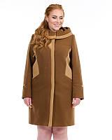 Пальто двухцветное свингер 50-62рр бронза, фото 1