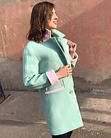 Пальто двухцветное 42-50рр , фото 1