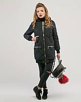 Куртка стеганная на манжете черная, фото 1